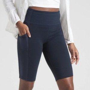 """Athleta Excursion Hybrid 9"""" Biker Shorts - Navy"""
